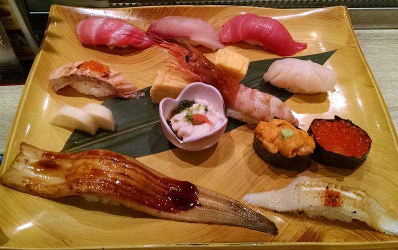 Another Assorted Sushi Plate at Midori Ginza