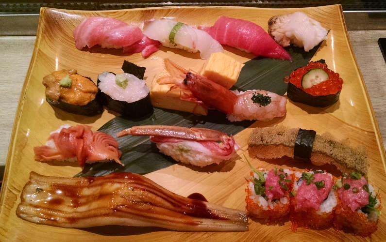 1 More Assorted Sushi Plate at Midori Ginza