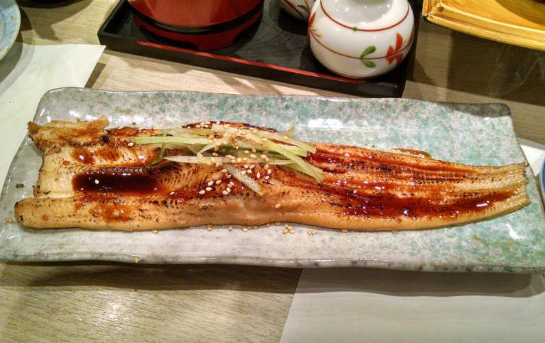 Grilled Eel Unagi at Midori Ginza