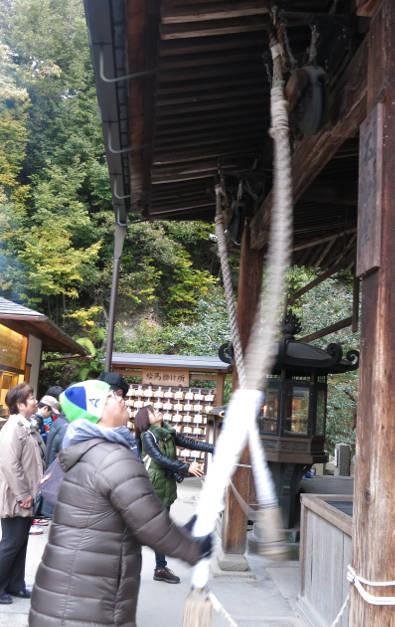 JM Ringing a Bell Kyoto Golden Pavilion