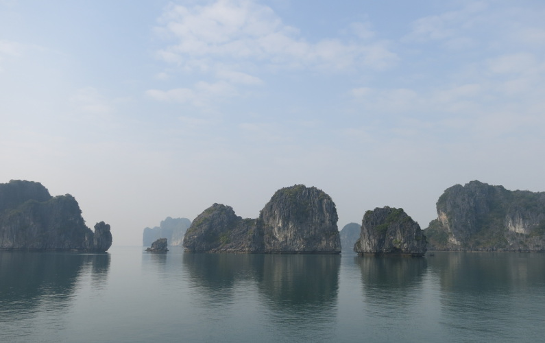 The Many Rock Formations of Bai Tu Long and Ha Long Bay Area During the Indochina Junk Tour