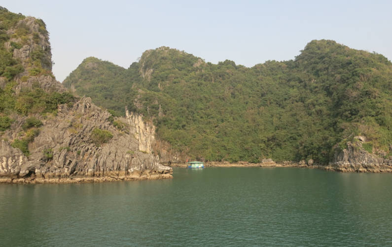 Spotted a Lone Floating Home During the Indochina Junk Tour