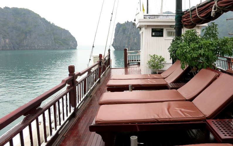 Loungers on the Sun Deck of the Indochina Junk