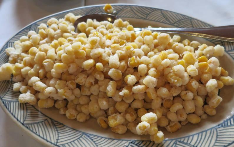 A Plate Indochina Junk Corn Kernels