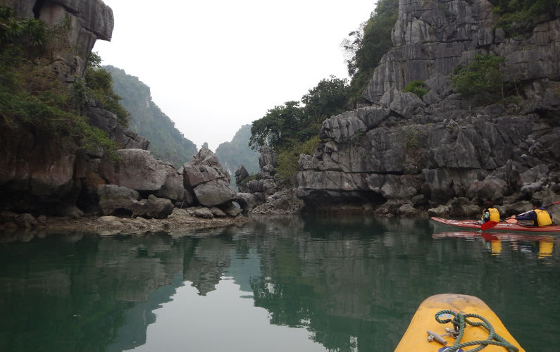 Exploring Bai Tu Long Bay By Kayak with New Friends From the Indochina Junk
