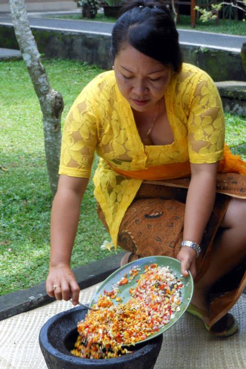 Food Prep Paon Cooking Class Bali
