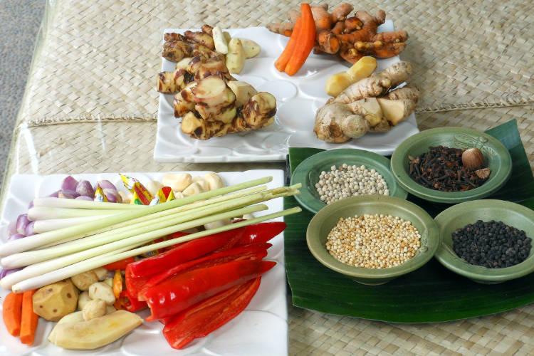 Ingredients Paon Cooking Class Bali