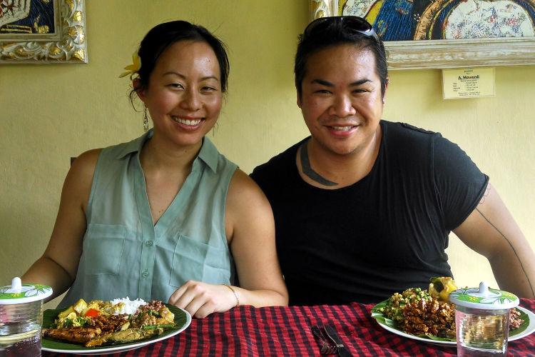 Nadia and JM Paon Cooking Class Bali