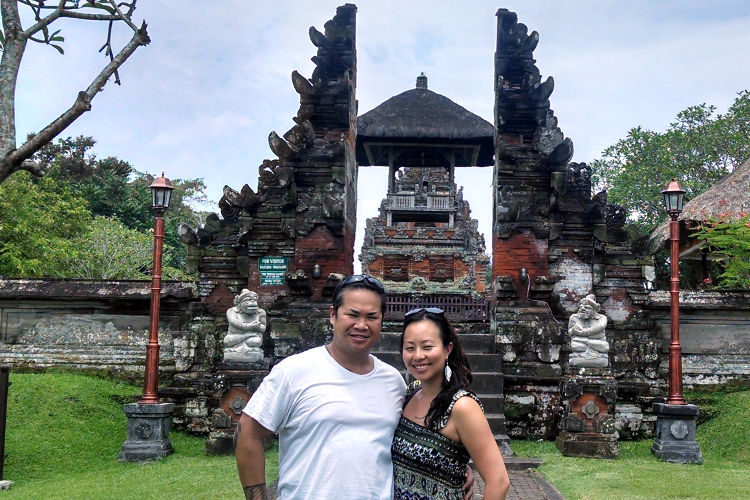 Nadia and JM Pura Taman Ayun Bali Tour 03