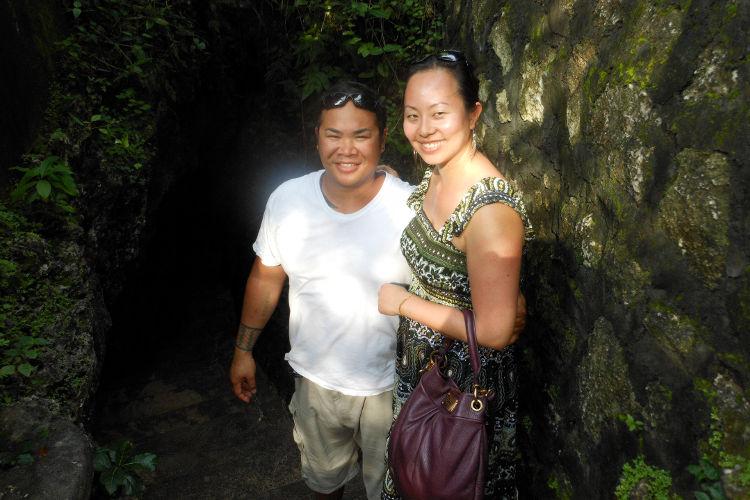 Nadia and JM Stairs Padang Beach Bali Tour