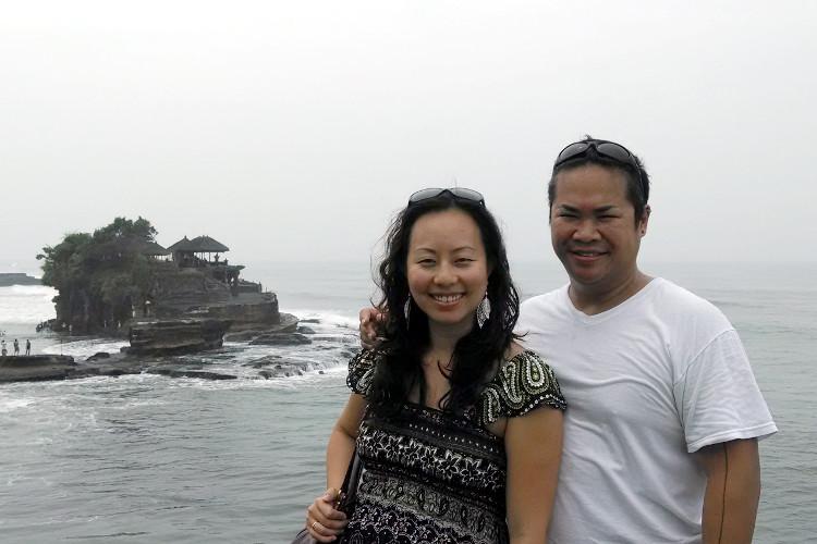 Nadia and JM Tanah Lot Temple Bali Tour