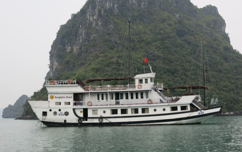 Side View of the Indochina Junk's Dragon Pearl II
