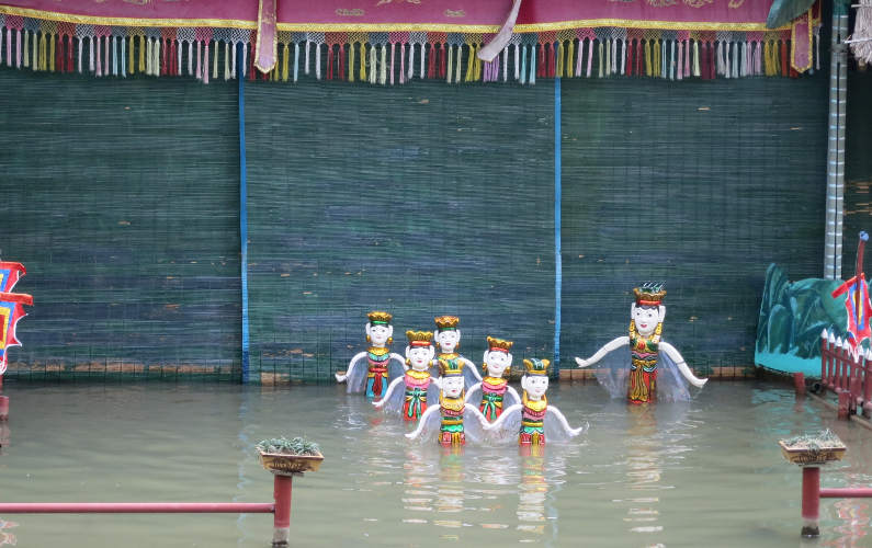 Water Puppet Show at the End of the Indochina Junk Tour