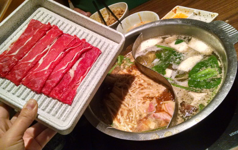 Enter Nabezo All-You-Can-Eat Shabu Shabu in Shinjuku