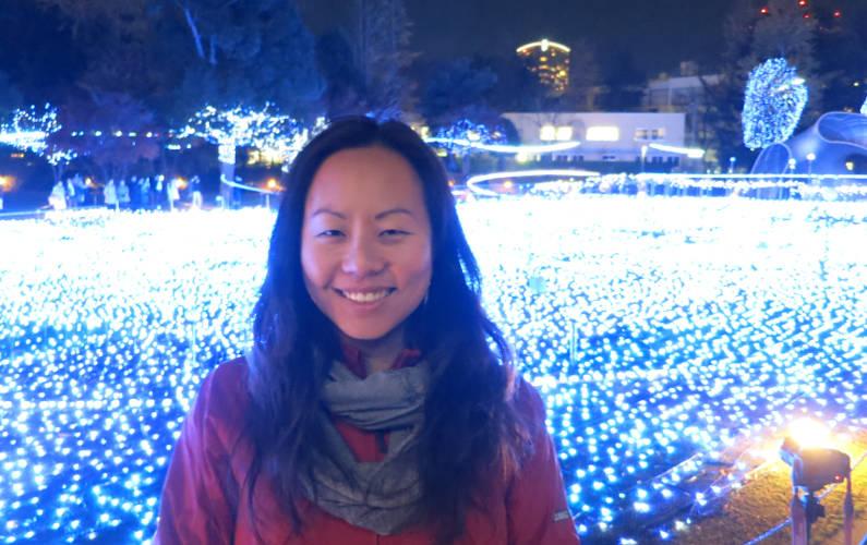 Nadia at the Midtown Christmas Lights Tokyo
