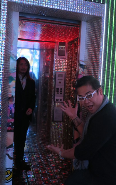 JM at the Robot Show Elevator Picture Door Opening to a Surprised Man