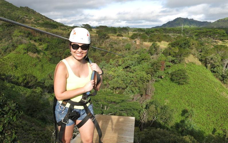 Ziplining at Skyline Eco-Adventures Poipu