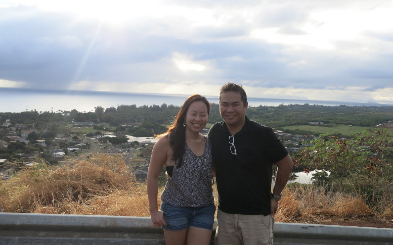 View of Nadia and JM and the Pacific from Waimea