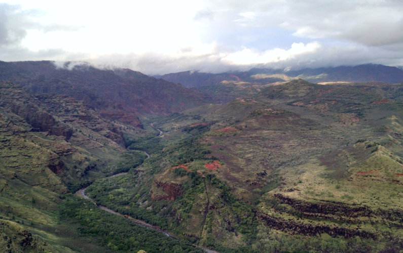 View of Waimea Canyon Kauai Hawaii
