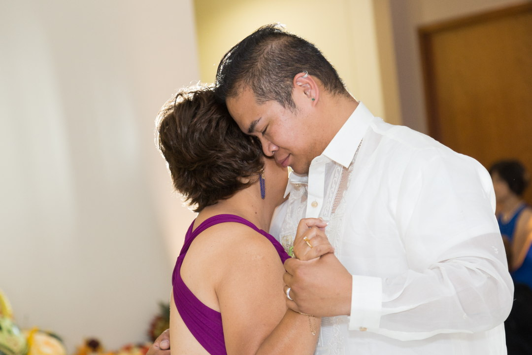 JM dancing with his mother