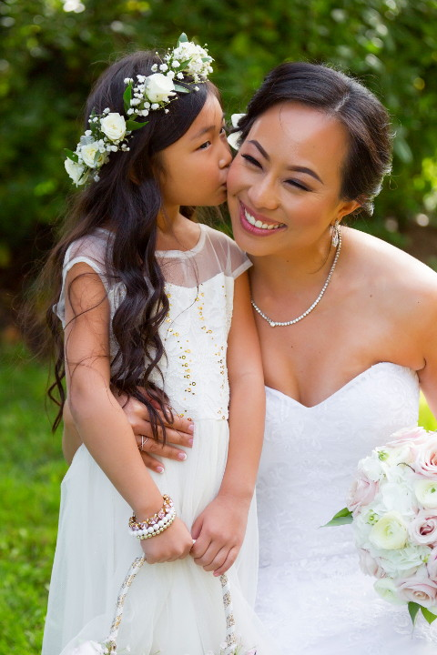 Nadia with her flower girl