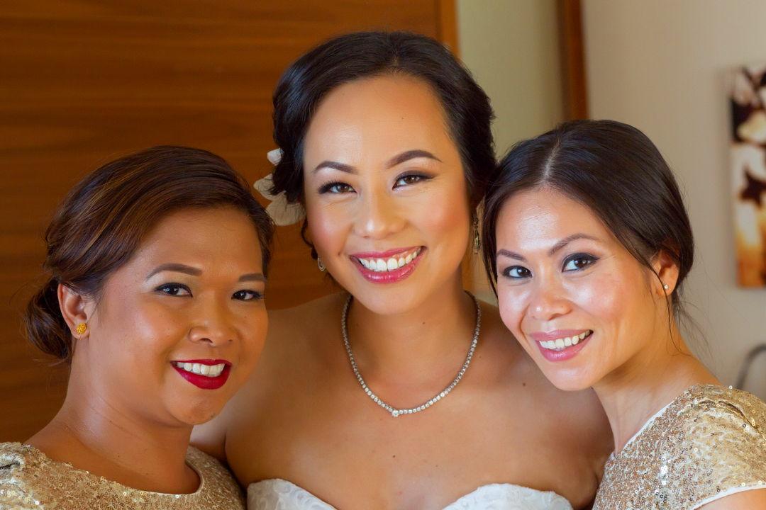 Nadia with her wedding ladies