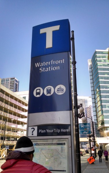 Vancouver Rail Waterfront Station Marker
