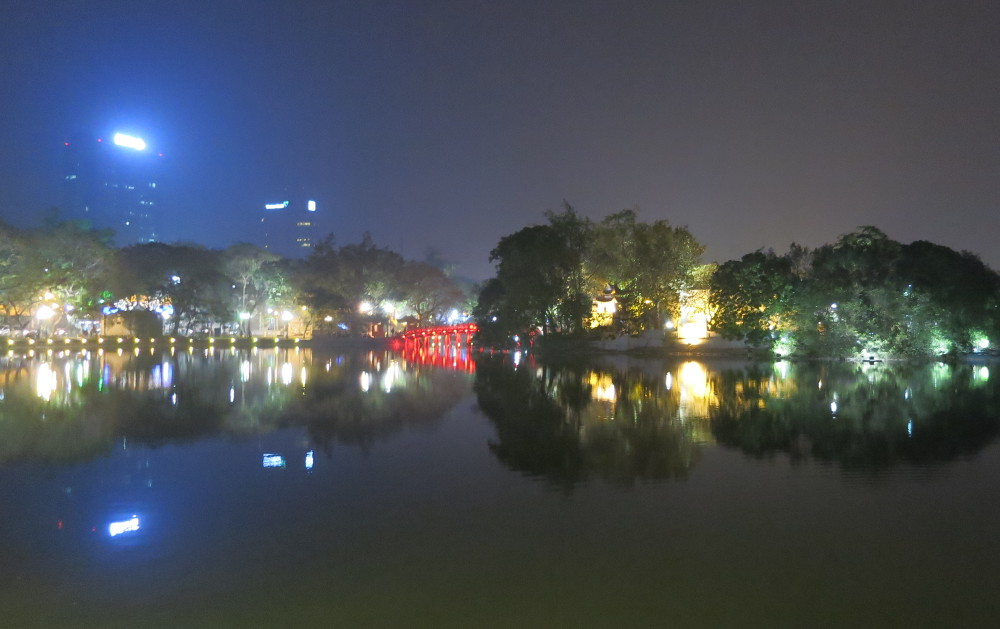Hanoi Hoan Kiem Lake During the Hanoi Street Food Tour