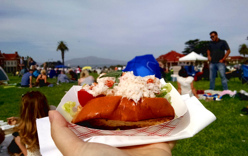 Crab Roll at the SF Presidio Off the Grid Food Truck Weekly