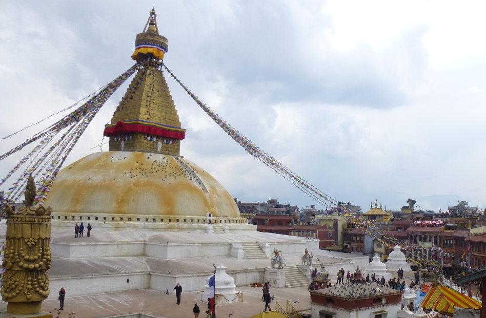 Boudhanath Temple Kathmandu in Nepal