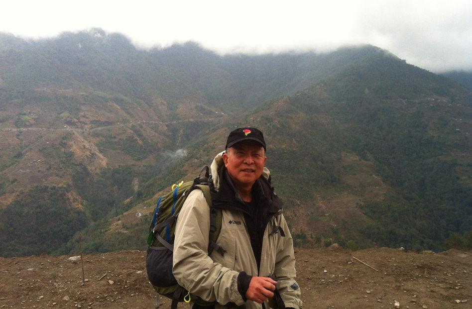 Eli Hiking from Pokhara