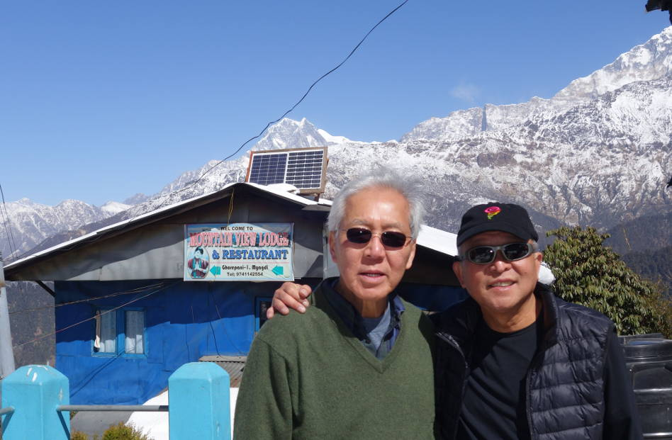 Eli with Pastor Tow in Poon Hill Nepal