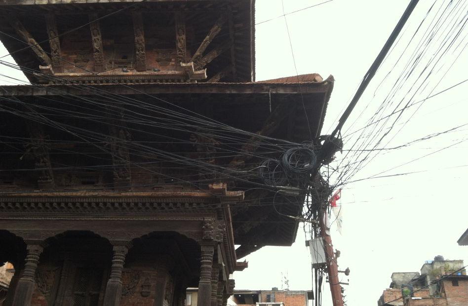Too Many Wires Kathamandu Nepal