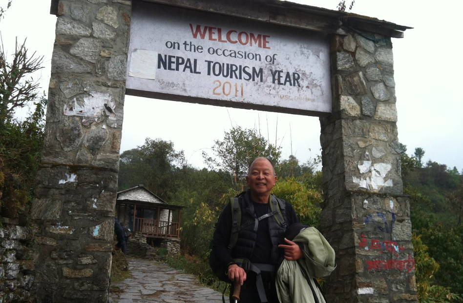Eli at the 2011 Welcome Sign to Nepal Tourism