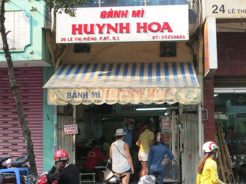 Nadia in Line at Bánh Mì Huỳnh Hoa Saigon