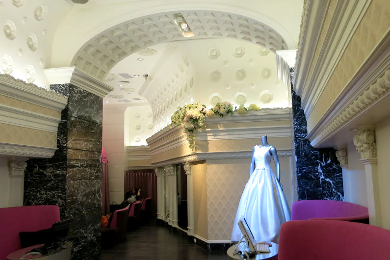 Ching Hua Bridal Art Wedding Dress Within the Main Lobby Area