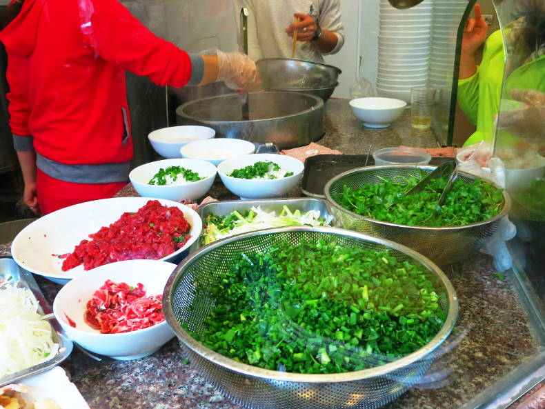 Pho 10 Pho Ingredients in Hanoi