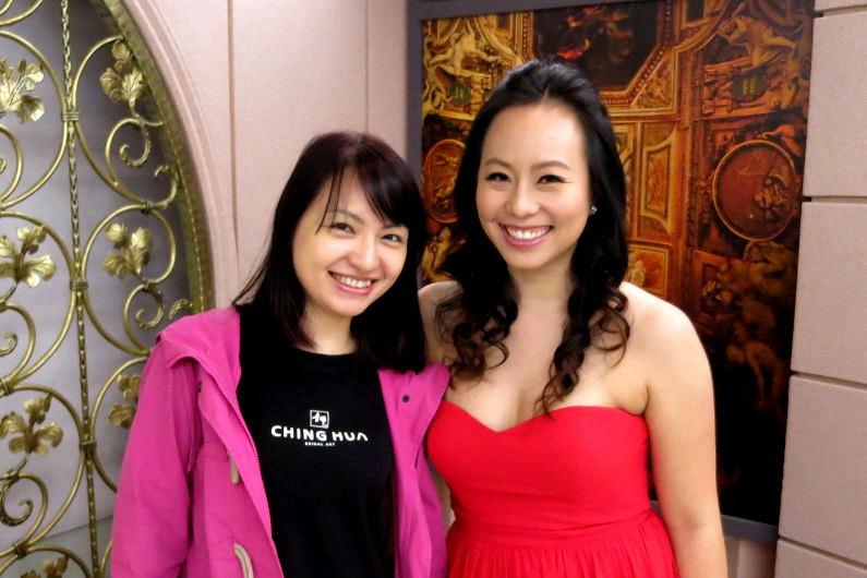 Nadia with Our Amazing Ching Hua Bridal Art Liason Chun-Yu