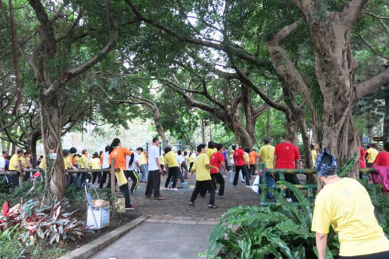 Tai Chi Practitioners Practicing at Chiang Kai-shek Memorial Hall