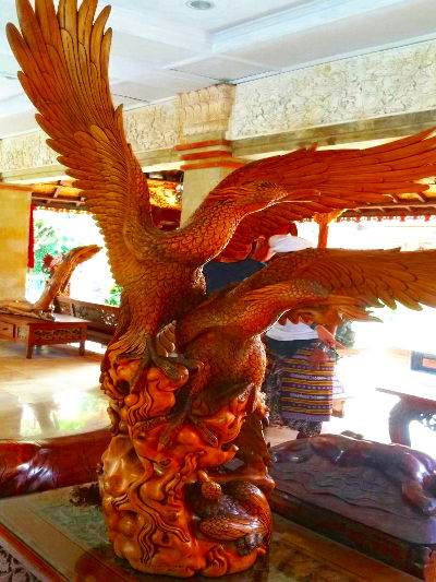 Balinese Wood Carving of a Bird