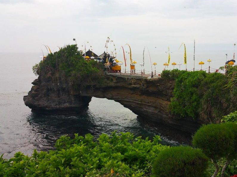 Batu Bolong Near Tanah Lot Temple in Bali