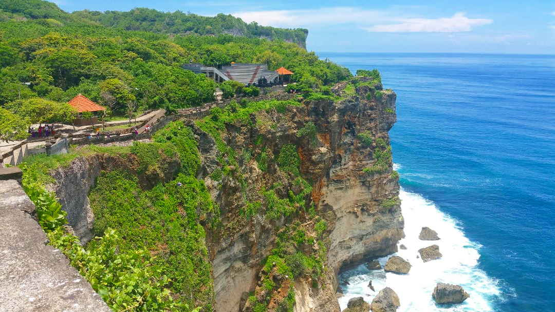 Uluwatu Temple in exotic Bali