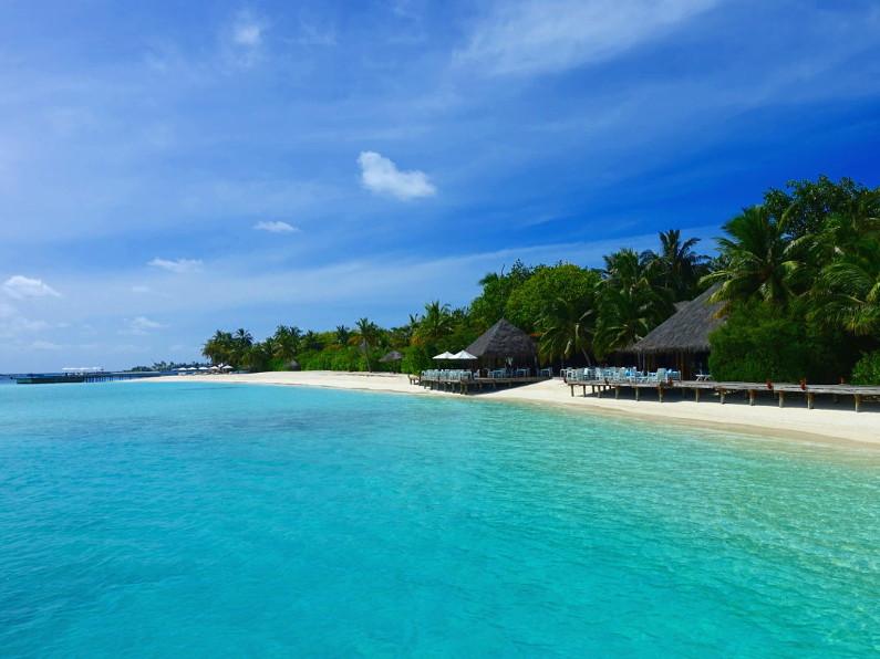 Breakfast location at the Conrad Maldives