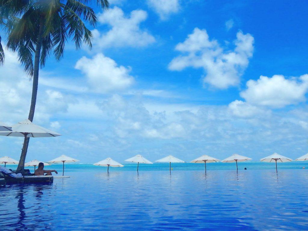JM at the Pool at the Conrad Maldives