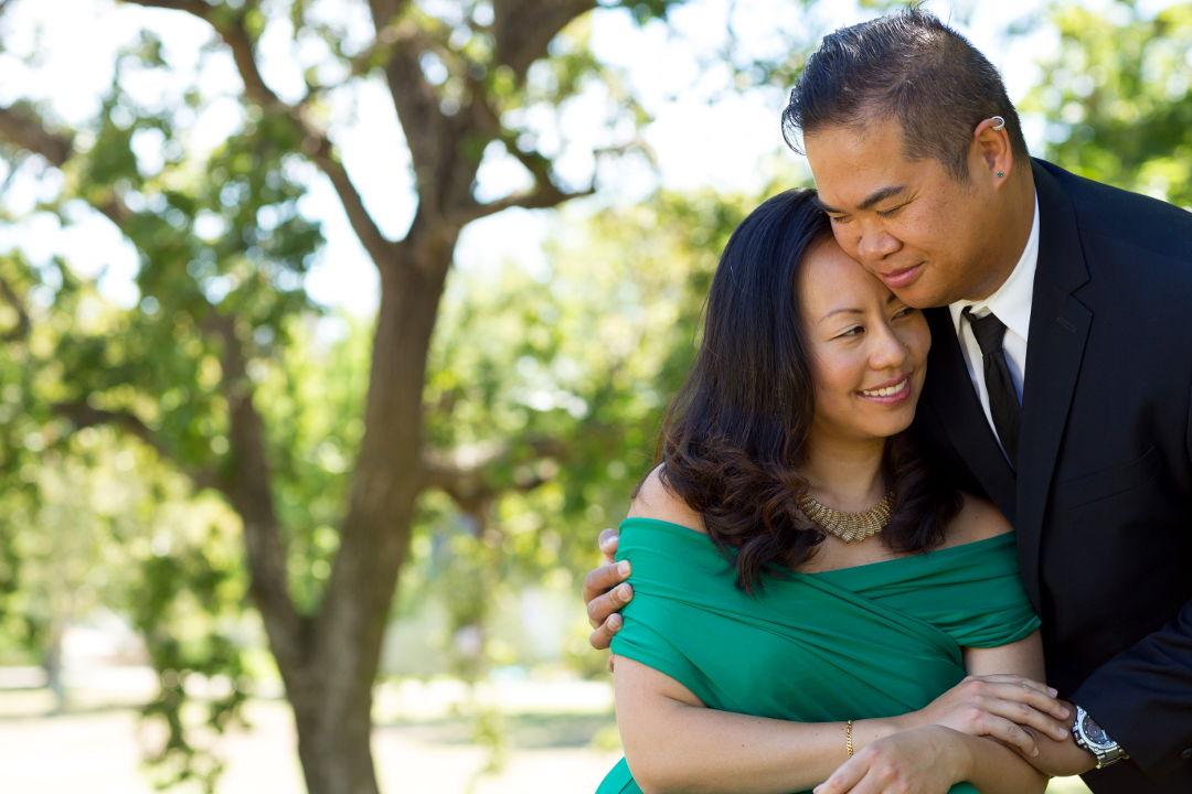 JM holding Nadia in Los Gatos Vasona Park