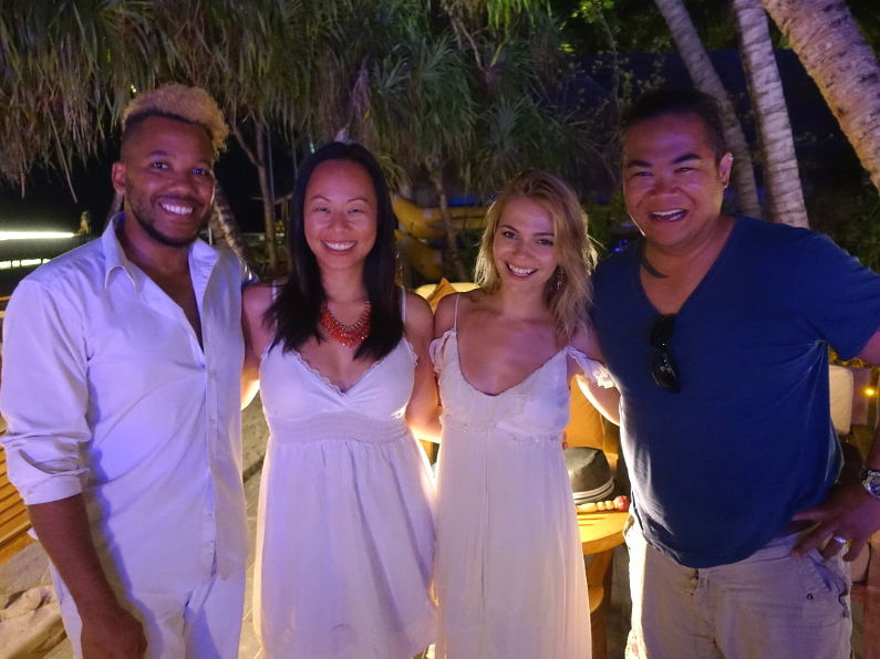 Nadia and JM with the Musical Talent at the Conrad Maldives