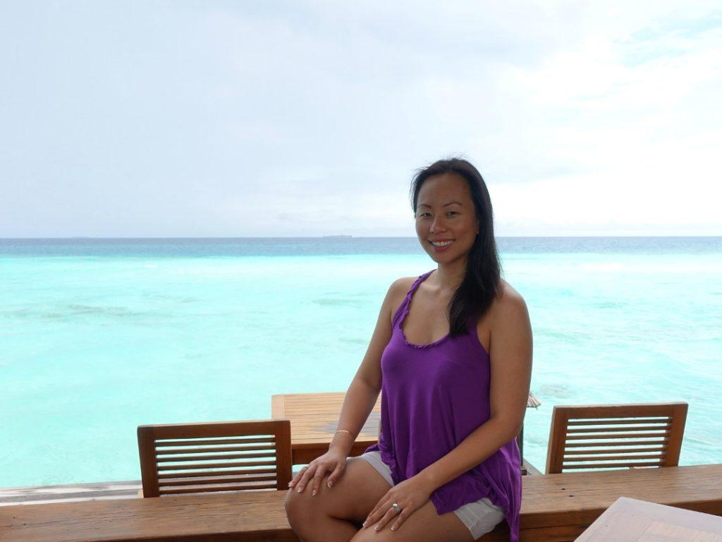 Nadia at Overwater Mandhoo Spa Restaurant at the Conrad Maldives