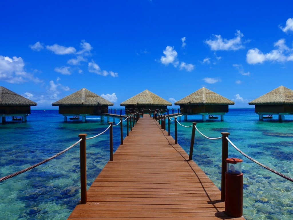 Over water suites in Huahine