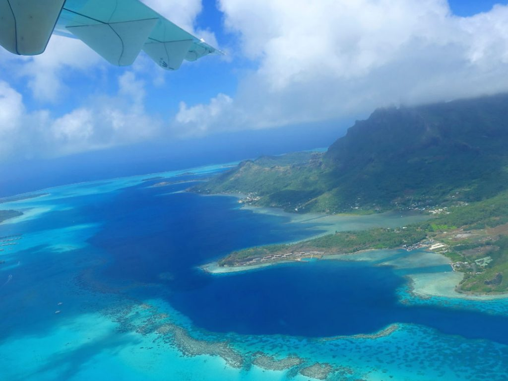 View from the plane of Huahine 02
