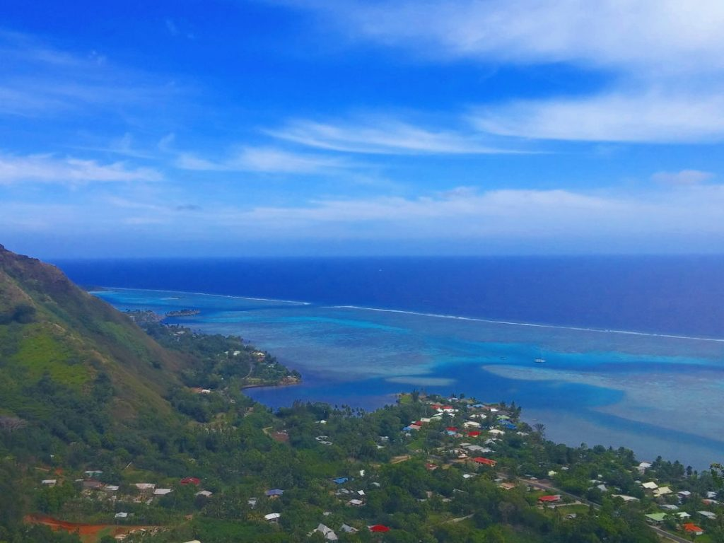 View of the beach in Moorea